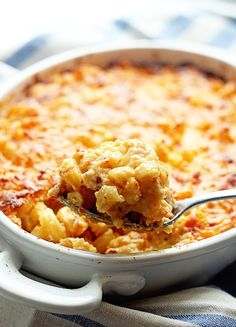 A classic Southern Baked Macaroni and Cheese recipe baked until golden brown and filled with gooey oozing exotic cheeses.