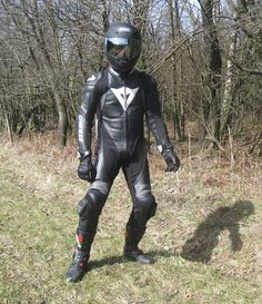"""sportivhz: """" With sun without bike, but in hot racing suit … """" Motard Sexy, Bike Leathers, Motorcycle Suit, Biker Boys, Motorbikes, Leather Pants, Tights, Racing, Helmet"""