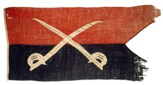 General George A. Custer's Third Personal Civil War Cavalry Guidon This flag was handmade by General Custer's wife, Libby Custer, in 1864. This flag was only flown when Custer was on the field. This was one of Custer's more famous flags from the campaigns in the Shenandoah as well as other engagements during its use.