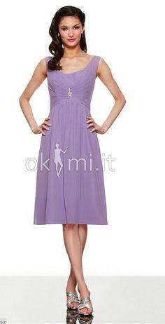 Poly Chiffon Scoop Neck Dress by Moonlight Bridesmaids. Okmi Abiti Wedding  Dresses · abiti da damigella 961b654b42f