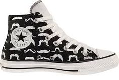 Converse All Star - Moustache shoes Cool Converse, Converse Sneakers, Converse All Star, High Top Sneakers, Converse High, Vans, Sock Shoes, Cute Shoes, Me Too Shoes