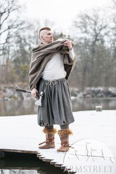 Our popular baggy Rus viking pants in a warm fabric of amazing herringbone tweed twinning.
