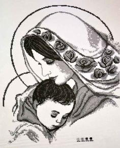 "Madonna and Child - Planos de bordados - inna1966 - Autores - Portal ""Cross Stitch"""