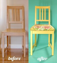 Add padded seat to dining chairs without removable seat by adding an MDF layer on top of seat