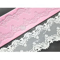 FOUR-C Cake Lace Mat Silicone Mold Cake Decorating Supplies,Silicone Mat Fondant Cake Tools Color Pink 2017 - $5.69