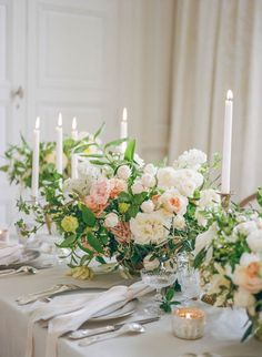 Heavenly tablescape with springtime blooms by HollyFlora