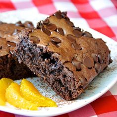 Chocolate Orange Brownies - These chocolate orange brownies are super soft and fudgy with a hint of orange flavour throughout, just like in Terry's Chocolate Orange. They freeze well too!