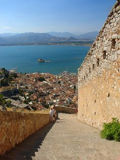 Nafplio is a seaport town in the Peloponnese in Greece that has expanded up the hillsides near the north end of the Argolic Gulf. Places Around The World, Around The Worlds, Santorini, Republic Of Venice, Greek Isles, Greece Islands, The Beautiful Country, Greece Travel, Beautiful Beaches