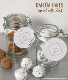 """GROWN UP """"COOKIES & MILK"""" :: Kahlúa BALLS & WINTER WHITE COCKTAIL — Celebrations at Home"""