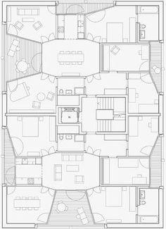 Wohnhalle: Grundriss Haus «Pensimo»