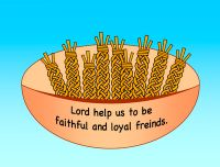 Ruth- wheat basket craft