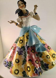 Old Lenci Style Carlo Mollica Art Deco Figurine Lady With