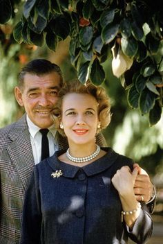 Clark Gable and his last wife, Kay………………..For more classic 60's and 70's pics please visit & like my Facebook Page at https://www.facebook.com/pages/Roberts-World/143408802354196