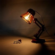 Make your own model of the famous Luxo Pixar Lamp.