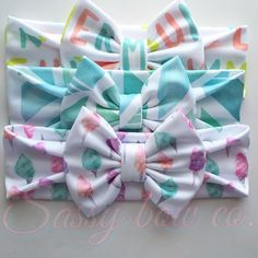 Summer bow-wraps from www.sassybowco.com #headband #bow