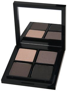 Smoky Eye Kit - Smoky eyes are always on trend, and now it's an easy look to create. The Smoky eye kit includes four essential colors for creating a sultry smoky eye in a sleek, mirrored compact. Five easy steps application guide included.