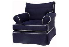 Hampton Chair, Navy on OneKingsLane.com