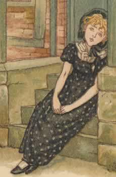 Illustration by Kate Greenaway     Born: 17 March 1846  Hoxton, London, England  Died: 6 November 1901 (aged 55)  Frognal, London, England