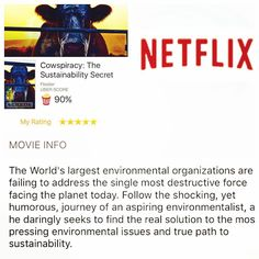 Wow! Mind blowing documentary executive produced by @leonardodicaprio on #netflix check it out.  #climatechange #climatemarch  #parisclimat2015 #parisclimateconference #plantbased #carbonfootprint #plantpowered  #eyeopener by mikebranc
