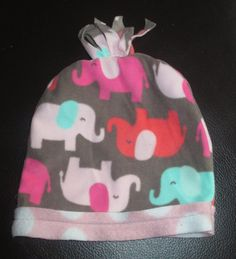 Upcycled Baby Elephant Fleece Hat and Scarf 0-6 month by StellaHudson33, $15.00