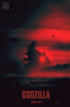 Godzilla - movie poster - crqsf.deviantart.com