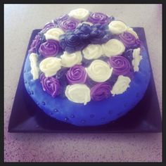 Birthday cake ... Mud cake, fondant, buttercream, flowers