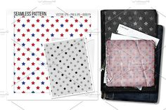 Seamless stars vector pattern. by Sweetmango on @creativemarket  americana, usa, uso, military, stars and stripes, seamless, pattern, vector, eps, card, design, wallpaper, background, backdrop,  fabric, curtain, wrapping paper, seamfree, tileable, texture,  textile, patterns, textures, pop, hipster, nerdy,
