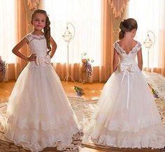 NEW Communion Party Prom Princess Pageant Bridesmaid Wedding Flower Girl Dress #Dress