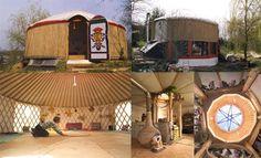Yurts / Jurten, Jurtenbau, neues Wohnen in Jurten und Domen