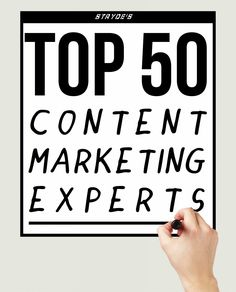 Top 50 Content Marketing Experts of 2014 Content Marketing Strategy, Inbound Marketing, Sales And Marketing, Internet Marketing, Online Marketing, Social Media Marketing, Digital Marketing, How To Become, Top