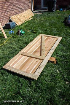 How to build a shed door out of cedar. How to build a shed door out of cedar. Cedar Door, Cedar Shed, Wood Shed, Pallet Shed, Build Your Own Shed, Large Sheds, Shed Doors, Barn Doors, Shed Building Plans
