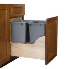 Rev-A-Shelf Soft-Close Double Trash Pullout 35 Quart 4WCSC-1835DM-2 | CabinetParts.com