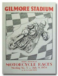1934 Gilmore Stadium Motorcycle Racing Night