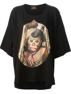 Shop Vivienne Westwood Anglomania  monkey t-shirt in Anastasia Boutique from the world's best independent boutiques at farfetch.com. Over 1000 designers from 60 boutiques in one website.