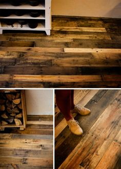 Reclaimed pallet flooring... looks like a lot of work  ArcticPlank | The little farmhouse