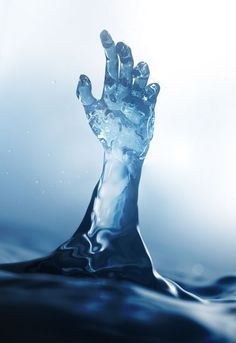 Elemental in water form, taking on a human shape.