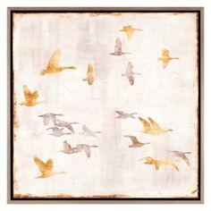 Paragon Decor Golden Flight I Framed Wall Art - 7405