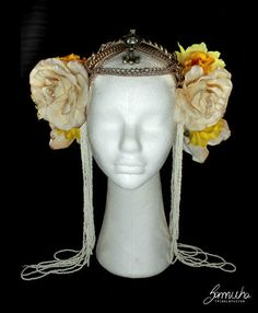 Headpiece cor: O Ouro. Enfeite cabeça dança tribal fusion