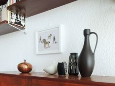 copper and vases