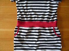 Dámské úpletové šaty s pružným pasem a kapsami | Sewing Patterns, Model, Tops, Tutorials, Fashion, Bags Sewing, Moda, Fashion Styles
