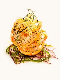 Roasted scampi seasoned with tea and scampi oil by chef Tetsuya Wakuda. ©️️ Waku Ghin - See more at: http://theartofplating.com/news/scampi-from-waku-ghin/#sthash.EwlpJKiq.dpuf