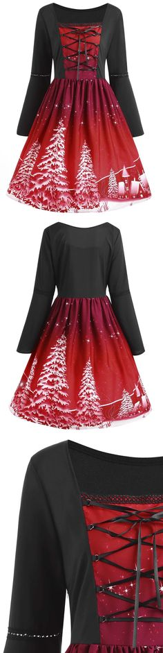 Up to 80% off, Wholesale Plus Size Lace Up Christmas Tree Print Dress 5xl Red Online. Cheap Plus Size Christmas Dress And Plus Size Club Dress on Rosewholesale.com,christmas dress for women,Christmas Red,Christmas Day,christmas gift,christmas red,extra 10% off coupon code:HALLOWEEN
