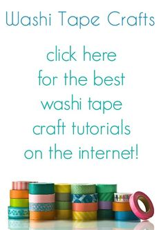 Do you have washi tape - but you aren't sure what to do with it? Click here for a collection of the best washi tape crafts on the internet!