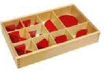Matematika   Zlomky - výřezy ( od 1 do 1/10 )   Montessori pomůcky