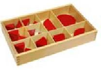 Matematika | Zlomky - výřezy ( od 1 do 1/10 ) | Montessori pomůcky