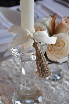 candle bow w tassle