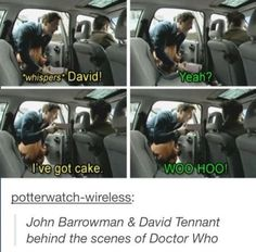 John Barrowman And David Tennant Behind The Scenes Of Doctor Who