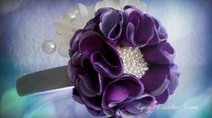 Flower Kanzashi Master Class hand made DIY Канзаши мастер класс, Ободок ...