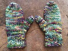 Bulky mitten pattern