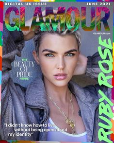 GLAMOUR's June Coverstar Ruby Rose On Coming Out & How OITNB Changed Her Life | Glamour UK Stonewall Uprising, Bright Makeup, Glamour Uk, Female Actresses, Orange Is The New Black, Ruby Rose, Celebrity Crush, I Tattoo, Things To Think About